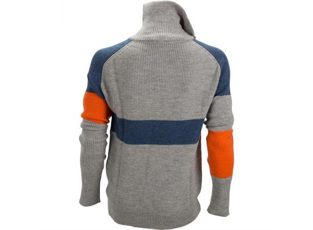 64ccf051 Ulvang Rav limited sweater w/zip Ms M. Grey Melange/Navy Melange/Coral Rose