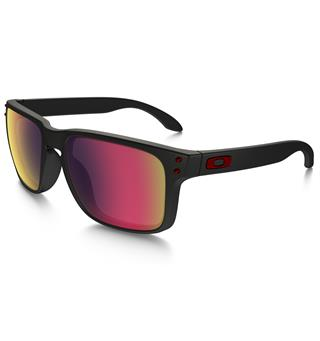 Oakley Holbrook Brille Solbrille - Matt Black/Red Iridium