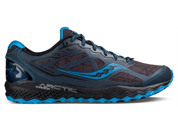 9ba77113 Saucony Peregrine 6 ICE+ sko herre 41 Løpesko for is og snø - GRY/BLK/BL -  Foss Sport AS