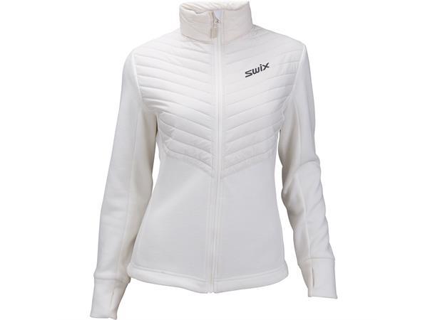 221165aa Swix Blizzard hybrid Jacket dame L Varm mellomlagsjakke - Snow white - Foss  Sport AS