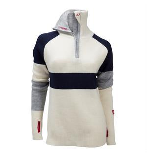 96238db2 Ulvang Rav limited sweater w/zip Ws Vanilla/New Navy/Grey Melange