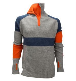 7e8497e2 Ulvang Rav limited sweater w/zip Ms Grey Melange/Navy Melange/Coral Rose