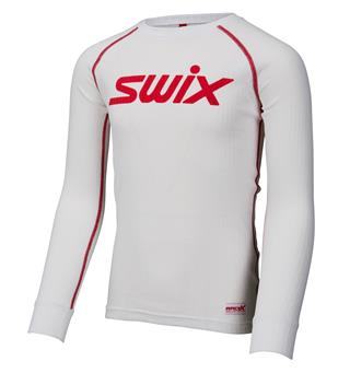 Swix RaceX bodyw LS trøye Junior Bright White, testvinnende supertrøye!